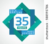 35 years anniversary...   Shutterstock .eps vector #588593786