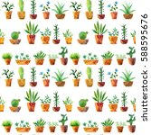 seamless pattern with... | Shutterstock . vector #588595676