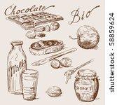 hand drawn chocolate | Shutterstock .eps vector #58859624