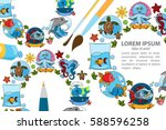 creative template with place... | Shutterstock .eps vector #588596258