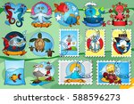 set illustration with the image ...   Shutterstock .eps vector #588596273