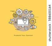 flat line modern corporate... | Shutterstock .eps vector #588600164