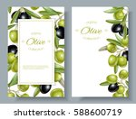 vector vertical banners with... | Shutterstock .eps vector #588600719
