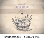 vector botanical banner with... | Shutterstock .eps vector #588601448