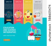 infographic education and... | Shutterstock .eps vector #588605474