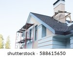 construction and repair of the... | Shutterstock . vector #588615650