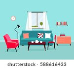 vector interior of the living... | Shutterstock .eps vector #588616433