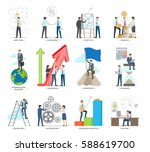 successful business making... | Shutterstock .eps vector #588619700
