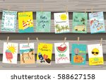 travel collection for banners... | Shutterstock .eps vector #588627158