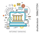 concept of internet banking.... | Shutterstock .eps vector #588627554