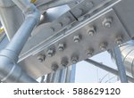 joint of steel structure with... | Shutterstock . vector #588629120