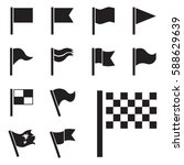 flag vector icon set isolated... | Shutterstock .eps vector #588629639