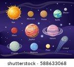sun mercury venus moon earth... | Shutterstock .eps vector #588633068