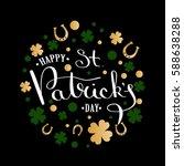 st. patrick's day lettering... | Shutterstock .eps vector #588638288