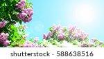 spring border abstract blured...   Shutterstock . vector #588638516