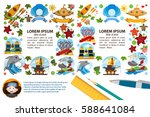 creative square frame with...   Shutterstock .eps vector #588641084