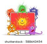 computer virus internet... | Shutterstock .eps vector #588643454
