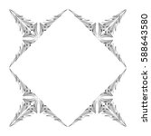 vector frame. decorative design ... | Shutterstock .eps vector #588643580