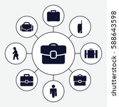 set of 9 brief filled icons...   Shutterstock .eps vector #588643598