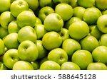 Bunch Of Green Apples In...