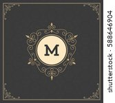 ornament logo design template... | Shutterstock .eps vector #588646904