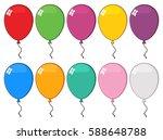 colorful balloons 03. vector... | Shutterstock .eps vector #588648788
