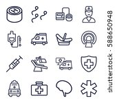 clinic icons set. set of 16... | Shutterstock .eps vector #588650948