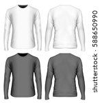men's t shirt. front and back... | Shutterstock .eps vector #588650990
