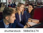 teen student is working with... | Shutterstock . vector #588656174