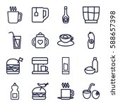 drink icons set. set of 16... | Shutterstock .eps vector #588657398