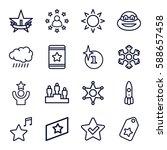 star icons set. set of 16 star... | Shutterstock .eps vector #588657458