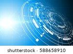 tech sci fi digital futuristic... | Shutterstock .eps vector #588658910