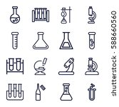 lab icons set. set of 16 lab... | Shutterstock .eps vector #588660560