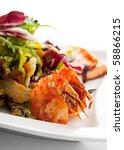 seafoods   shrimps  sea... | Shutterstock . vector #58866215