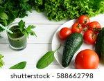 green smoothies avocado... | Shutterstock . vector #588662798