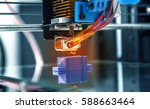 3d printer mechanism working... | Shutterstock . vector #588663464