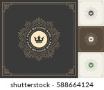 royal logo design template... | Shutterstock .eps vector #588664124