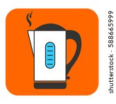 the electric kettle icon. this... | Shutterstock .eps vector #588665999