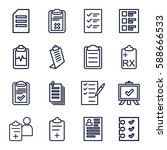clipboard icons set. set of 16... | Shutterstock .eps vector #588666533