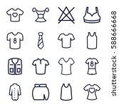 shirt icons set. set of 16... | Shutterstock .eps vector #588666668