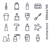 Paint Icons Set. Set Of 16...
