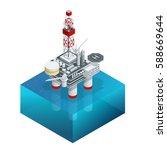 isometric platform for... | Shutterstock . vector #588669644