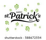 patrick'  s day typography... | Shutterstock .eps vector #588672554