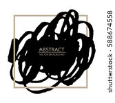 grunge black background. vector ...   Shutterstock .eps vector #588674558
