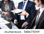 image of business partners... | Shutterstock . vector #588675059