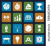 competition icons set. set of... | Shutterstock .eps vector #588682454
