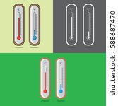 thermometer icon. icons... | Shutterstock .eps vector #588687470