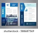 vector modern brochure ...   Shutterstock .eps vector #588687569
