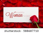 roses with 8 march... | Shutterstock . vector #588687710