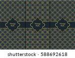 vintage pattern on black...   Shutterstock .eps vector #588692618